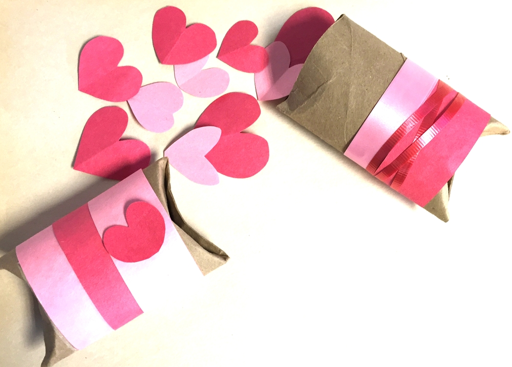 Use recyclable items from your home's bin as a starting point for sweet Valentine's Day crafts. Paperboard tubes make excellent pillow boxes for small gifts.