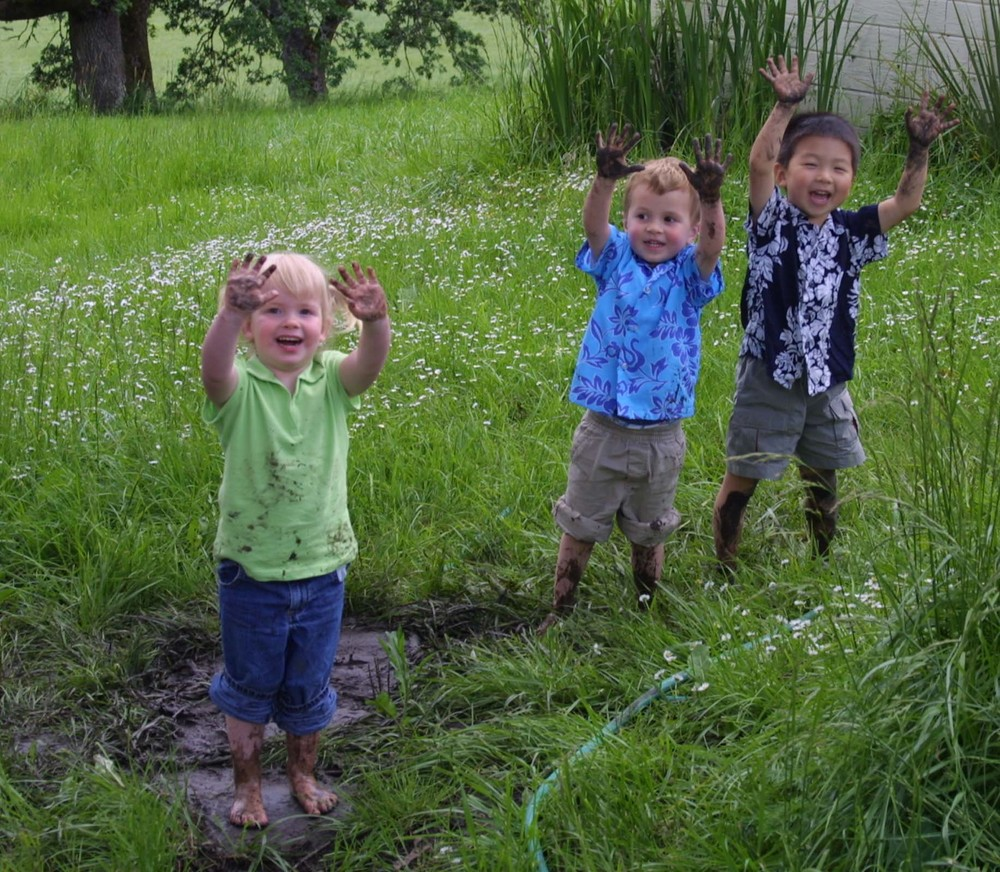 "Spend some time outdoors making mud pies during International Mud Day. ""If your child isn't coming in dirty every day, they're not doing their job,"" says Dr. Mary Ruebush, immunologist and author of Why Dirt is Good: 5 Ways to Make Germs Your Friends."