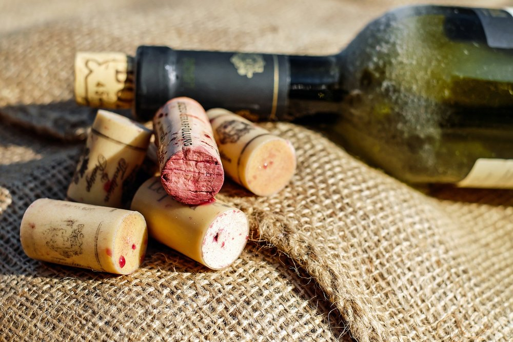 Wine corks are recyclable thanks to ReCork. Don't forget to recycle your glass wine bottle at the curb.