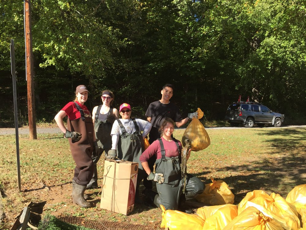 Dalton State College students and more than 60 volunteers removed litter from Lakeshore Park on Saturday, October 22 during the annual Conasauga River Watershed Cleanup.