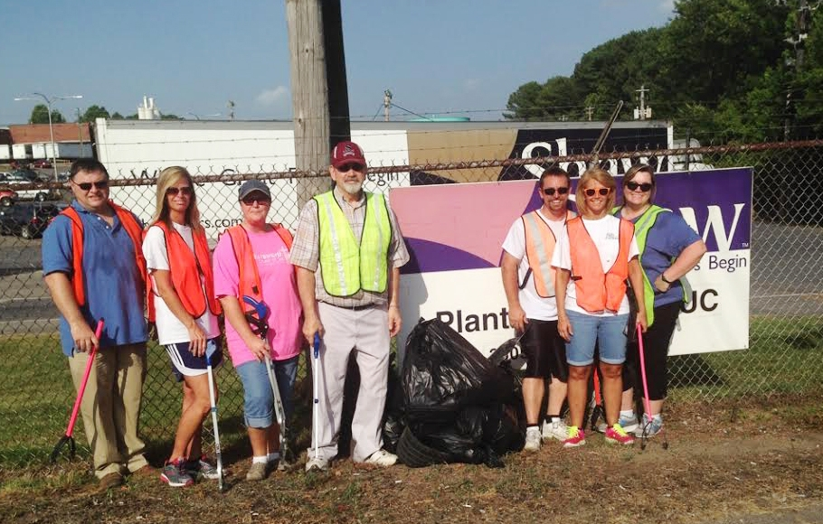 employees at shaw participate in quarterly adopt a mile cleanup events. removing litter is a simple way to give back to the community.