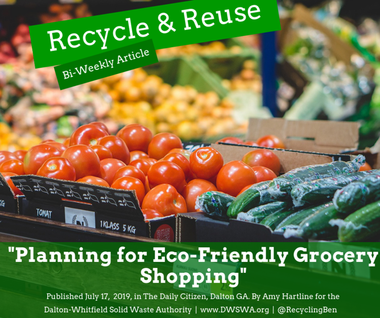 Planning for Eco-Friendly Grocery Shopping — Dalton-Whitfield Solid