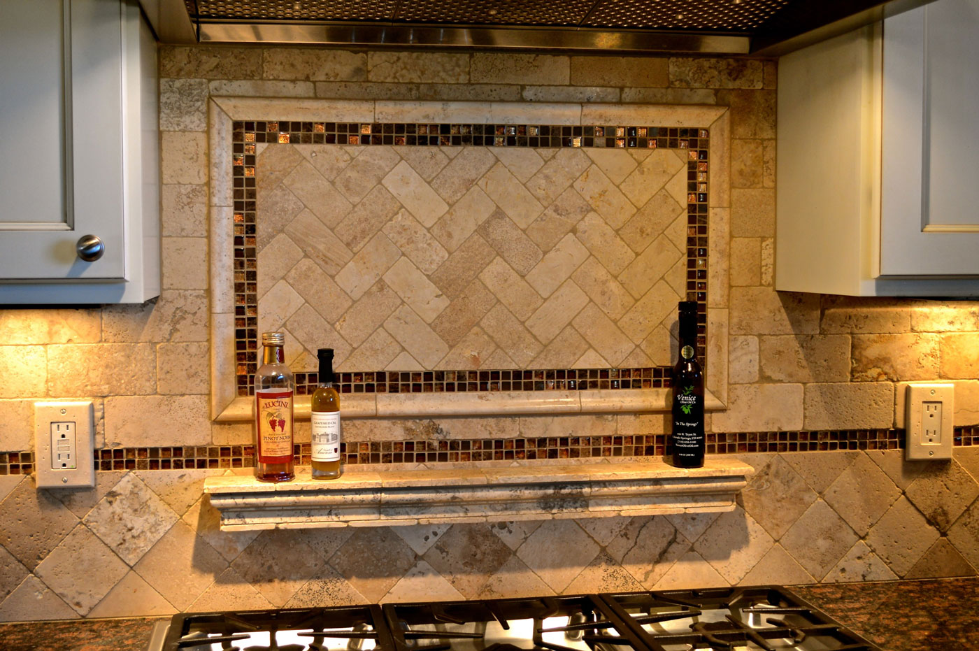 Colorado Springs Interior Design Custom Backsplasjh Tile Kitchen