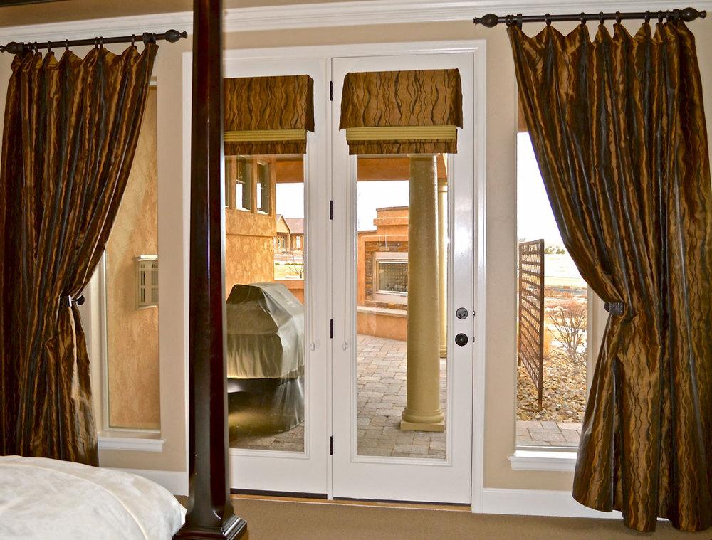 Bedroom Drapes Interior Designer Colorado Springs