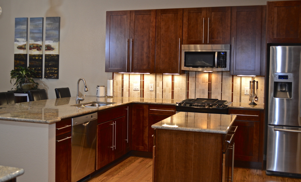 Complete Kitchen Remodel, entire kitchen cabinetry and appliances were removed and replaced.