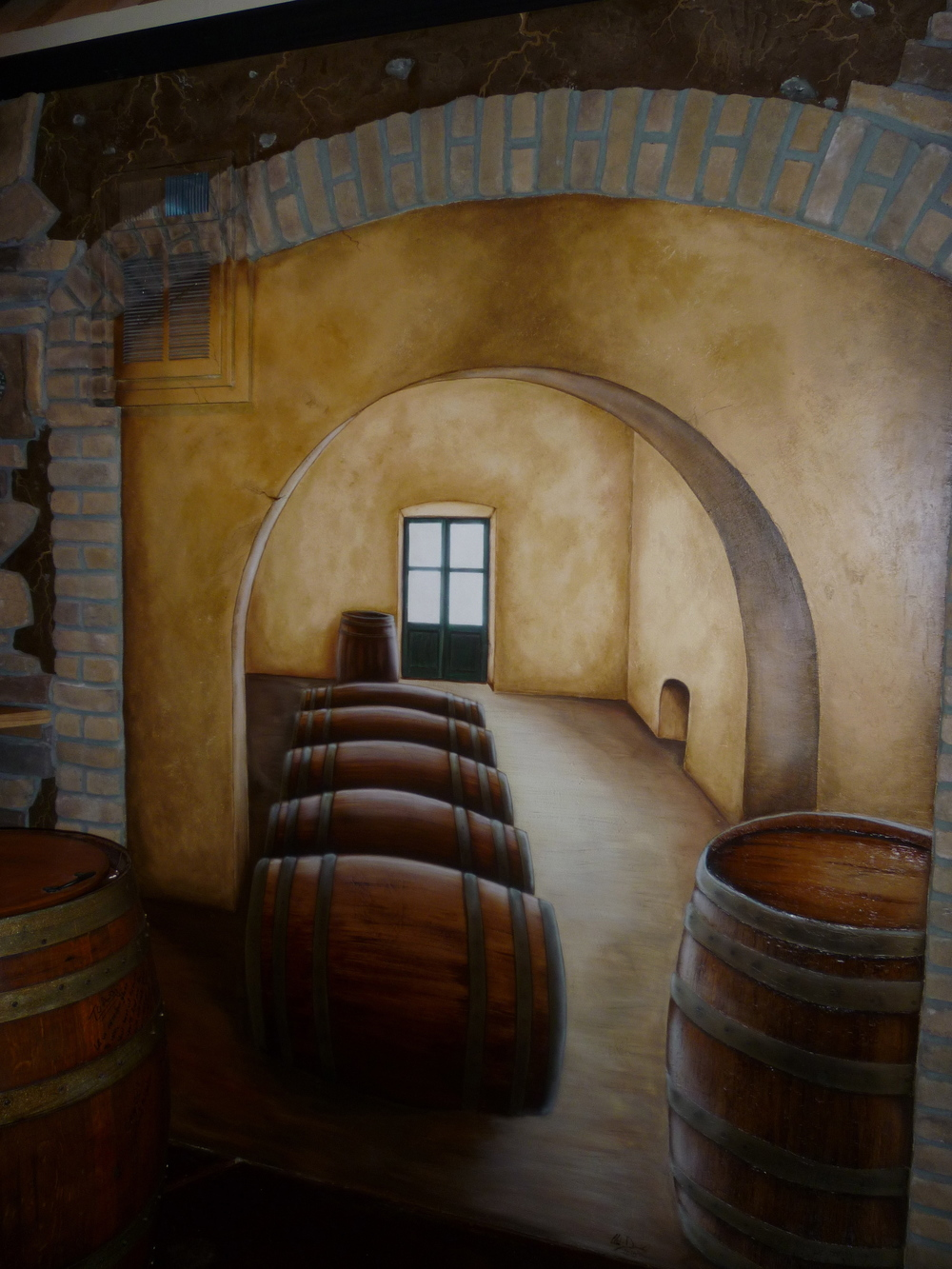 for Wine cellar wall mural
