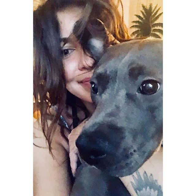 Me and my big dummy #dumbanddumber #pitbullsofinstagram #happygirls #shady #lilguilty