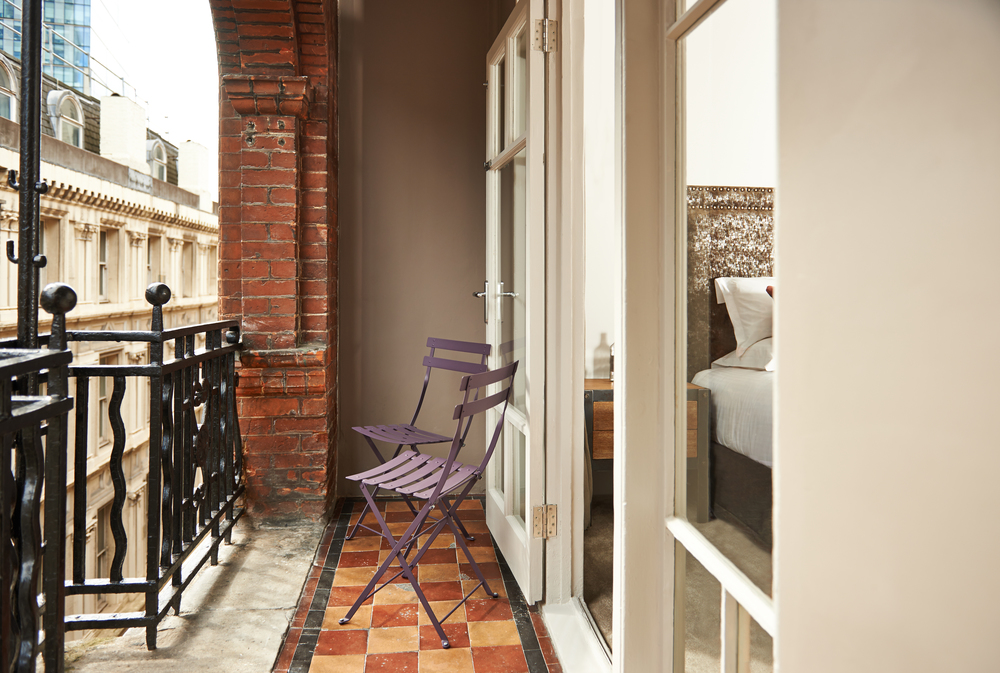 image of a hotel room terrace by London Photographer Holly Pickering