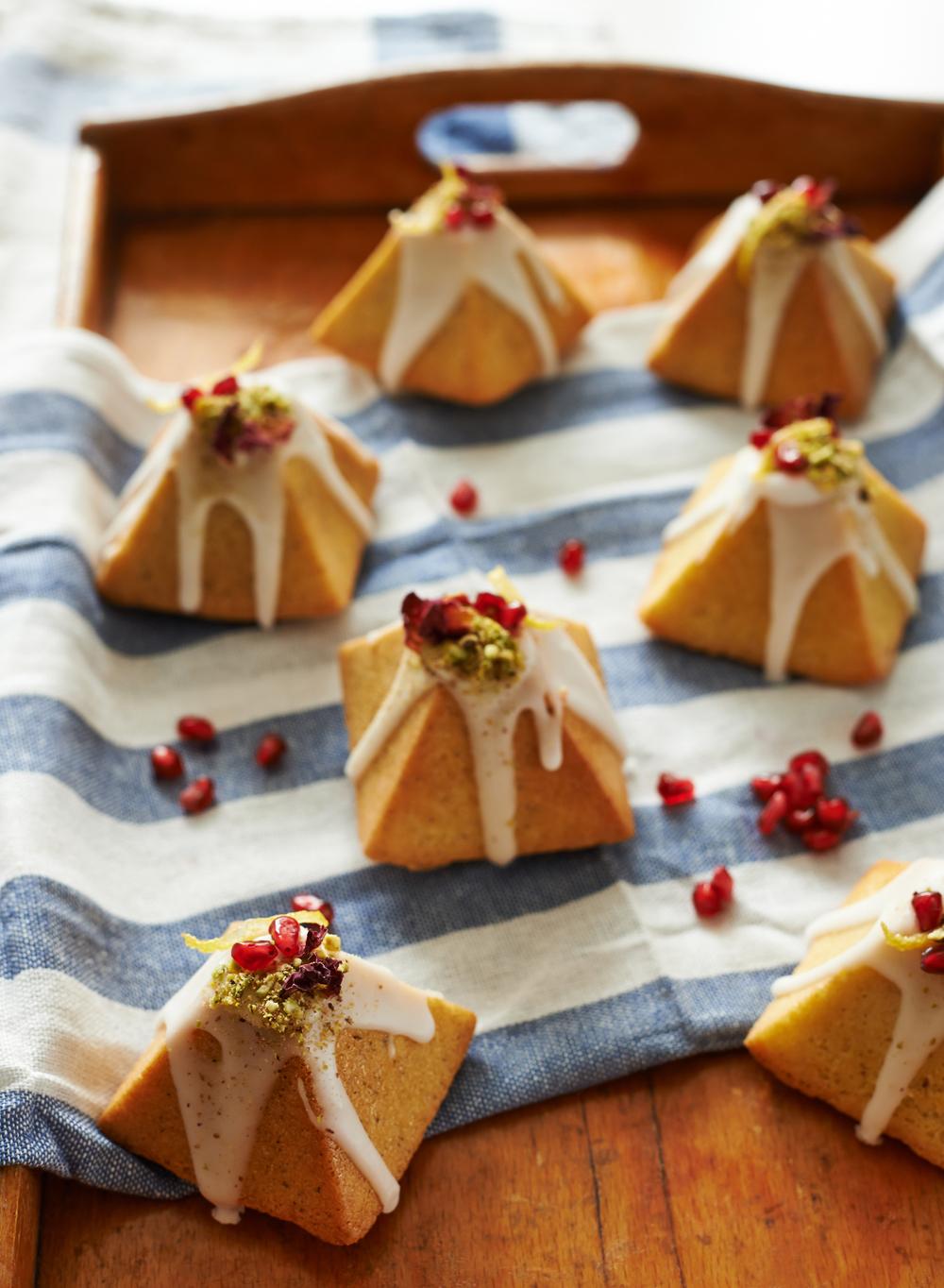pistachio cakes cookbook photography
