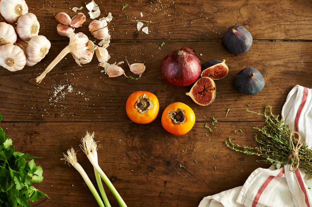rustic food photography of ingredients by Holly Pickering