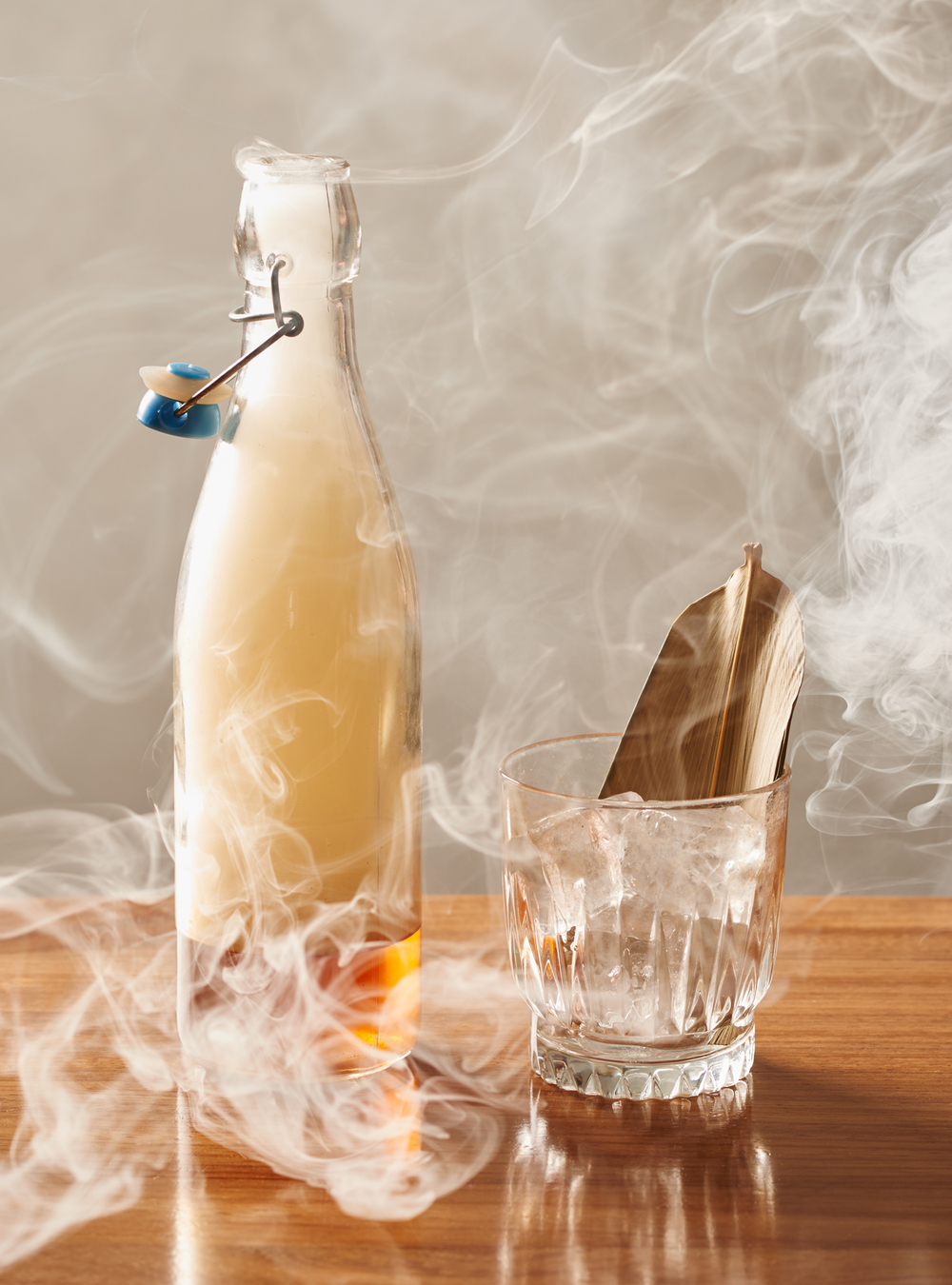 a smoked whiskey cocktail