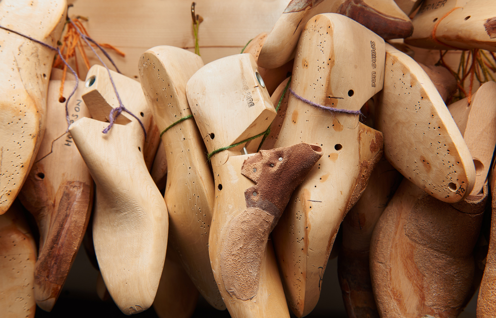 image of wooden shoe lasts