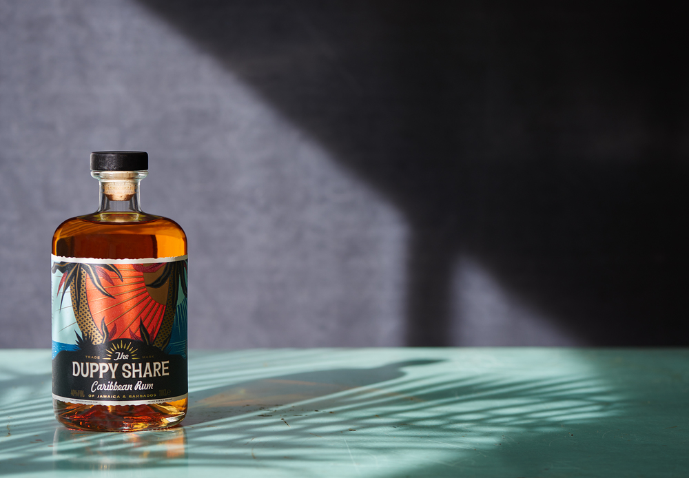 studio drinks photography for Duppy Share Rum