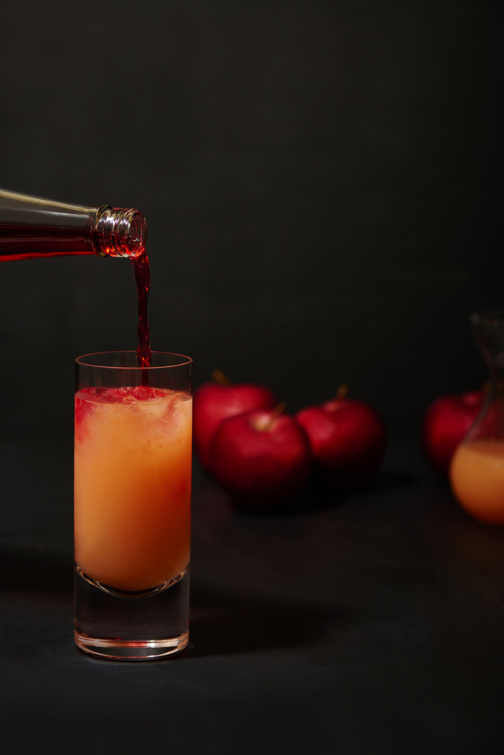dark drinks photography of a fruit cocktail