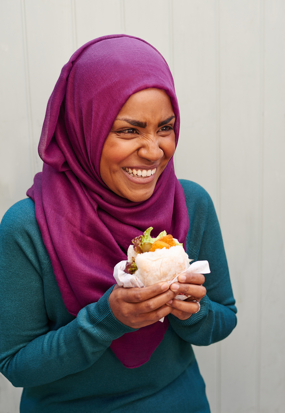 portrait of Great British Bake Off Winner Nadiya Hussain