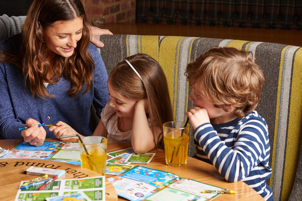 kids lifestyle advertising campaign for Harvester