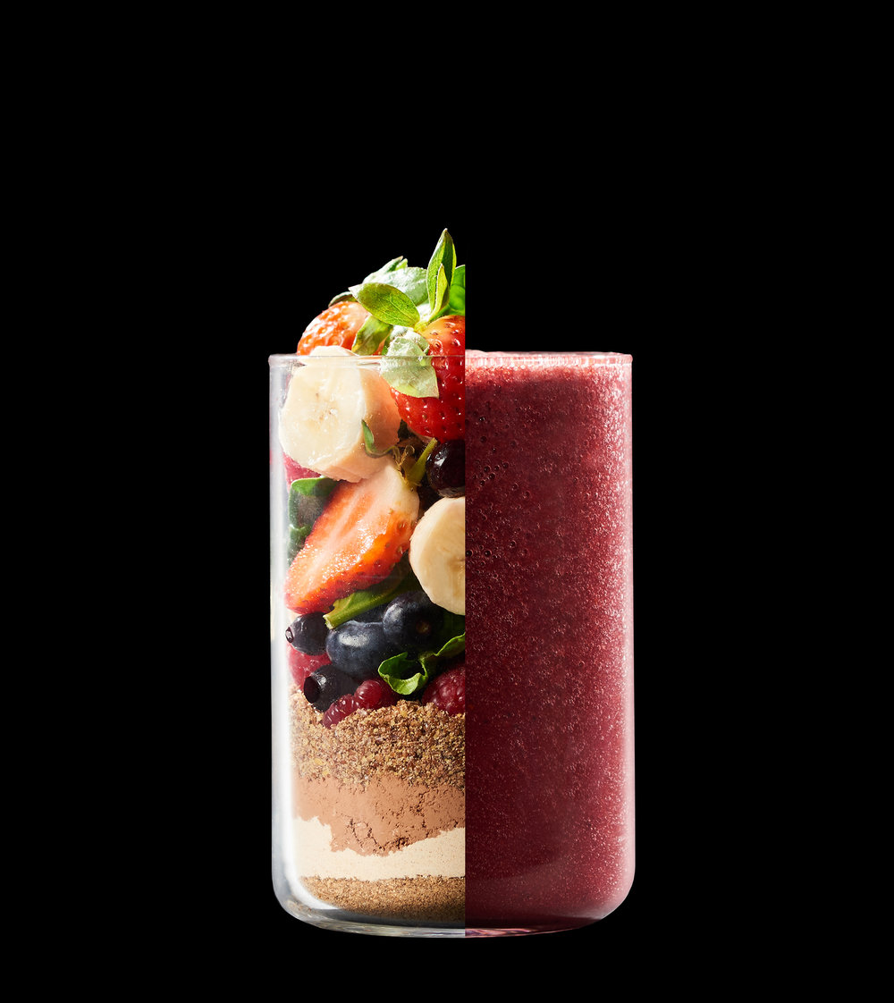 red smoothie advertising photography by Holly Pickering
