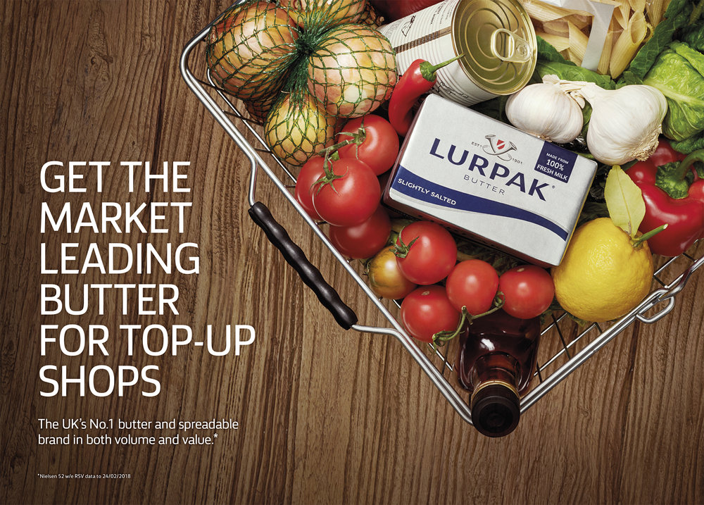 food photography for Lurpak by Holly Pickering