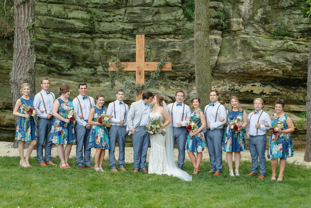 style altard st louis wedding bridal party