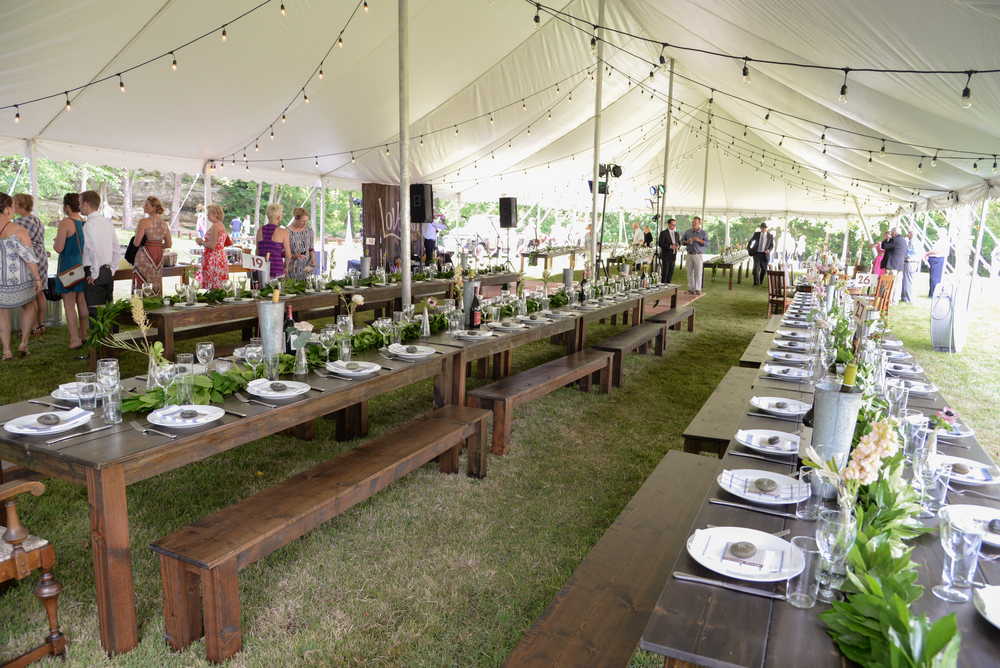 Style Altard St Louis Backyard Wedding Tent Reception