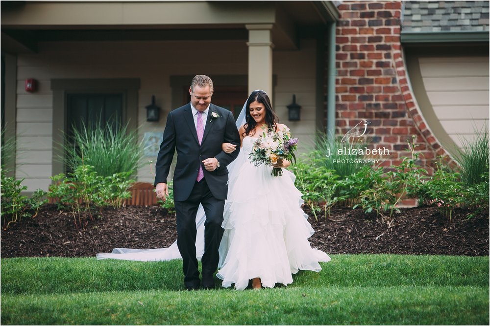 style altard wedding bride and father