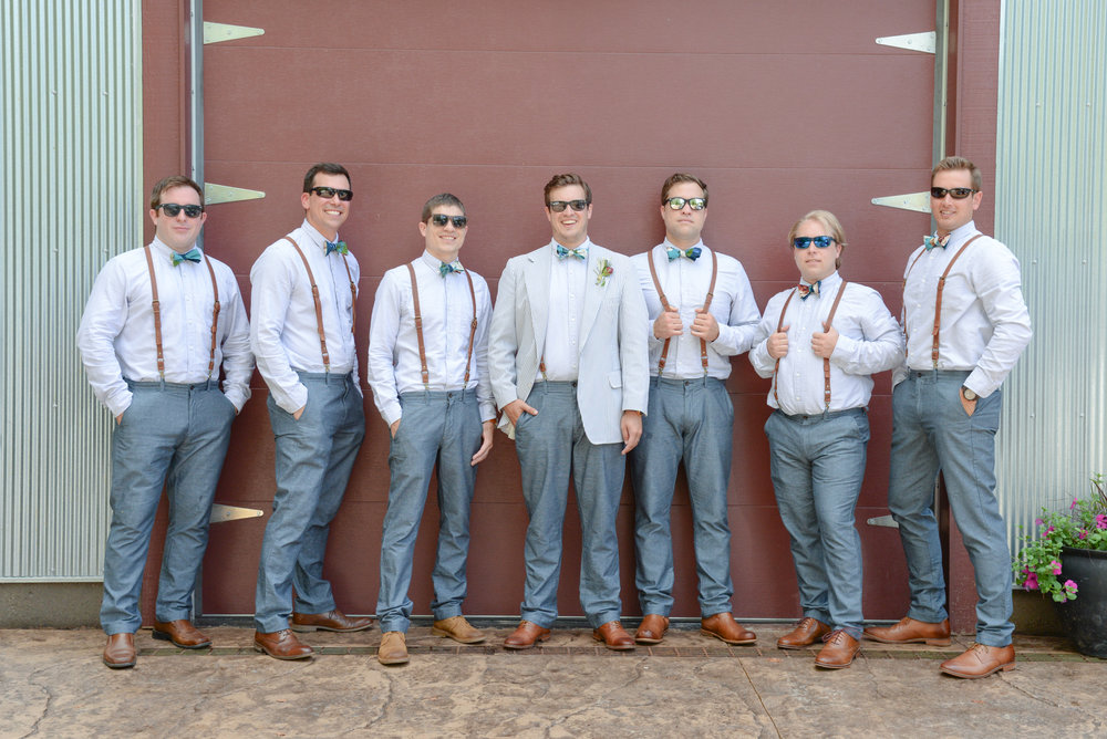 style altard st louis wedding groomsmen shot
