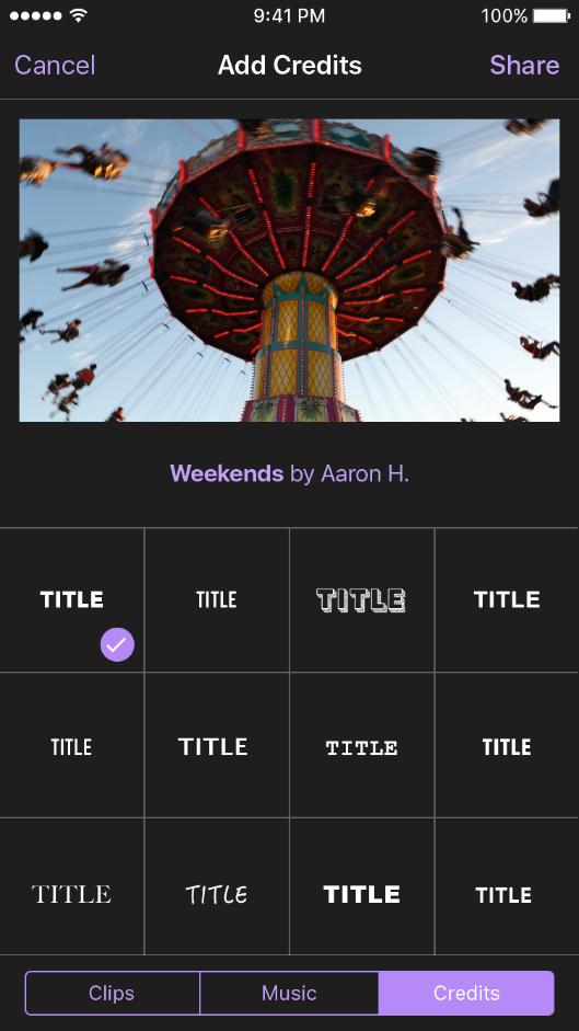 Create - Select Title