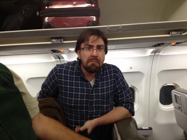 G rouchy josh after a long flight