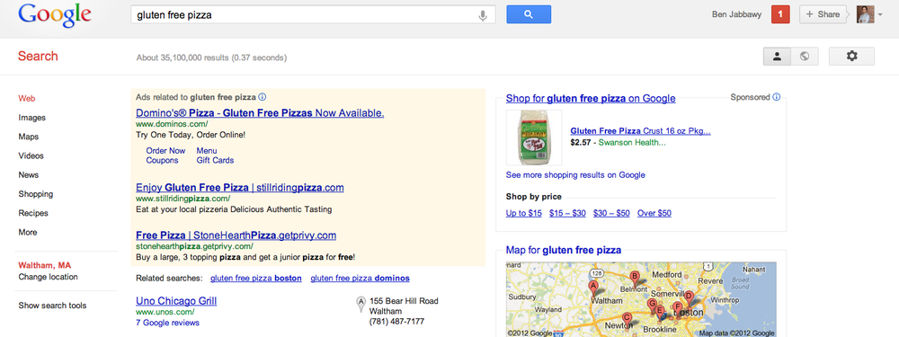What your Google Ad looks like with Privy