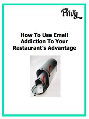 Ebook: How to use Email Addiction To Your Restaurant's Advantage