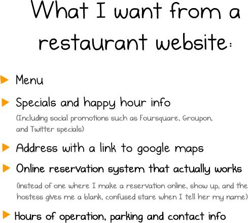The Oatmeal's take on restaurant websites