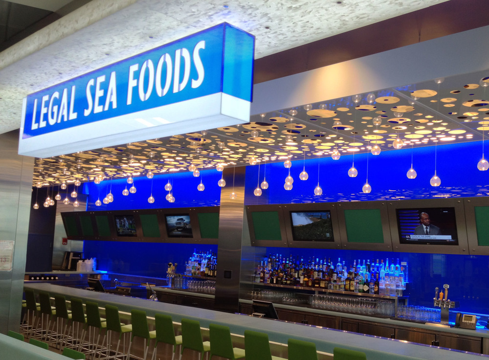 The Legal Sea Food airport restaurants look and feel different while maintaining the same commitment to quality.
