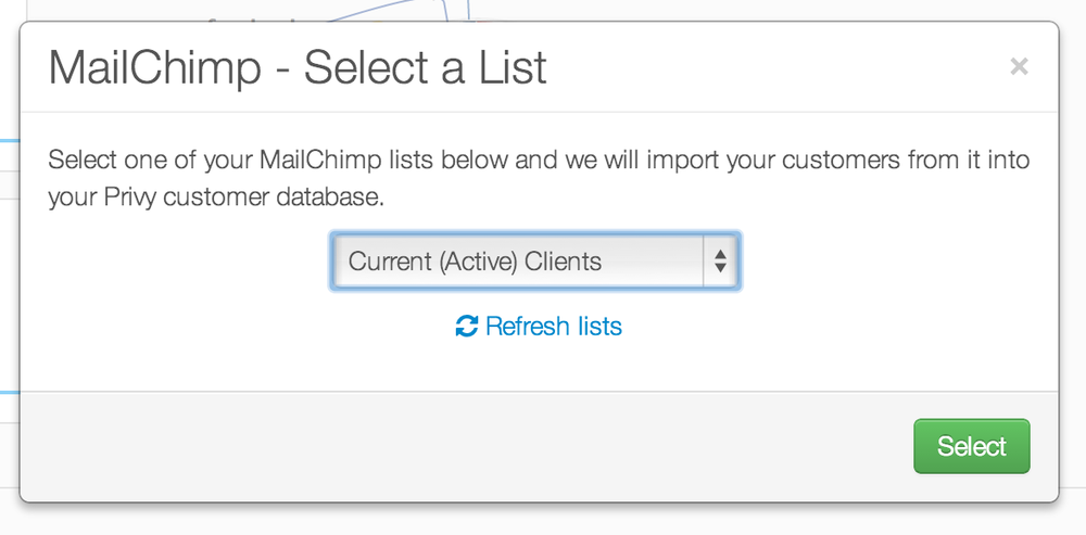 Just select a list to import and we will do the rest!