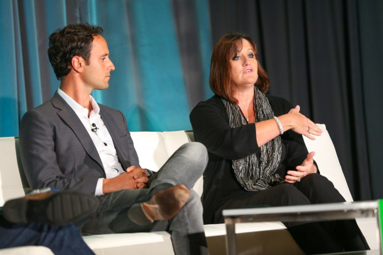 Above: Ben Jabbawy of Privy and Kim Matlock of Hard Rock Cafe.   Image Credit: Michael O'Donnell/VentureBeat