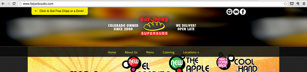 """Fat Jack's Subs uses the Long Running Offer of """"Free Chips or a Drink with the Purchase of Any Sub"""""""