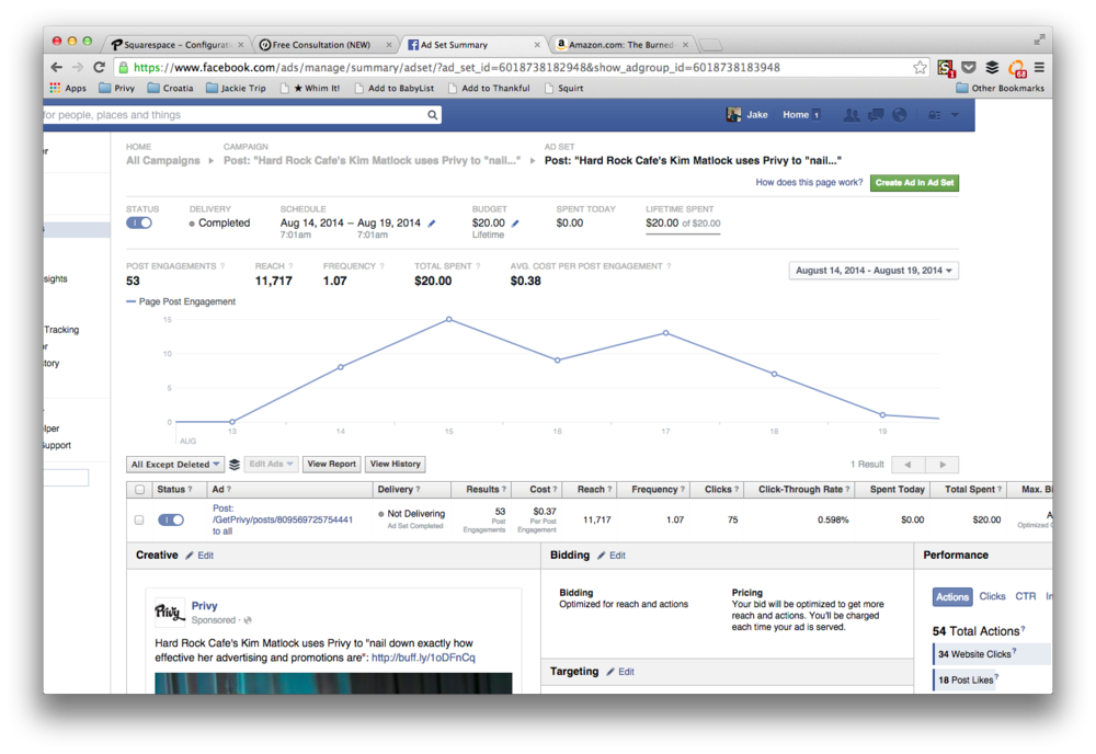 You can get sophisticated reporting with not much work from Facebook ads.