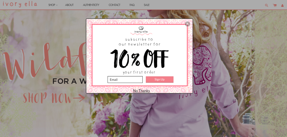 Ivory ella coupon code