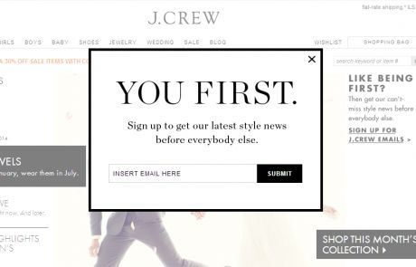 J. Crew keeps it to the point in this example.