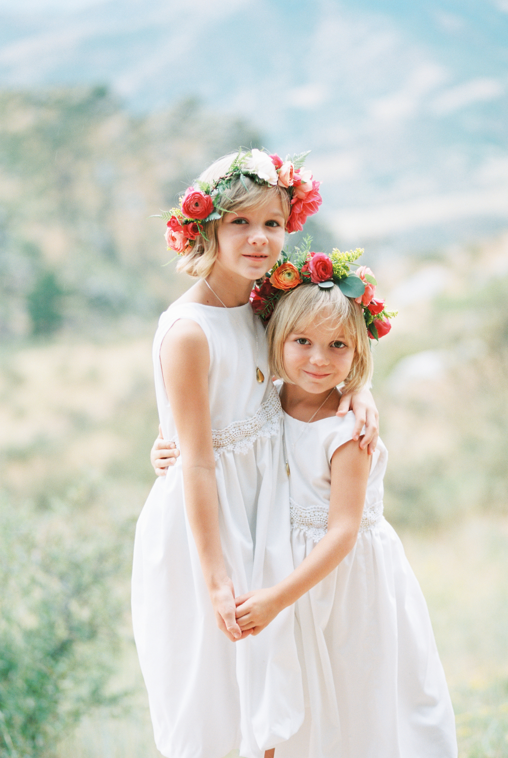 Lace and Lilies, flower girl halos, flower crowns