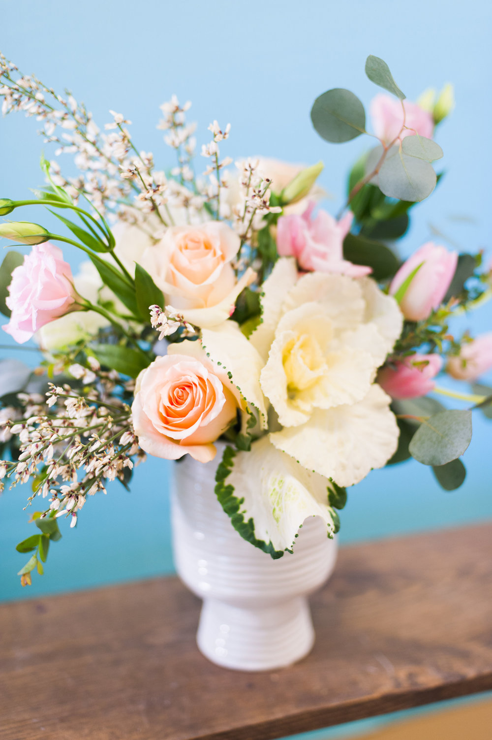 "Option 2 is a soft and textured arrangement - these flowers really say ""I adore you"""