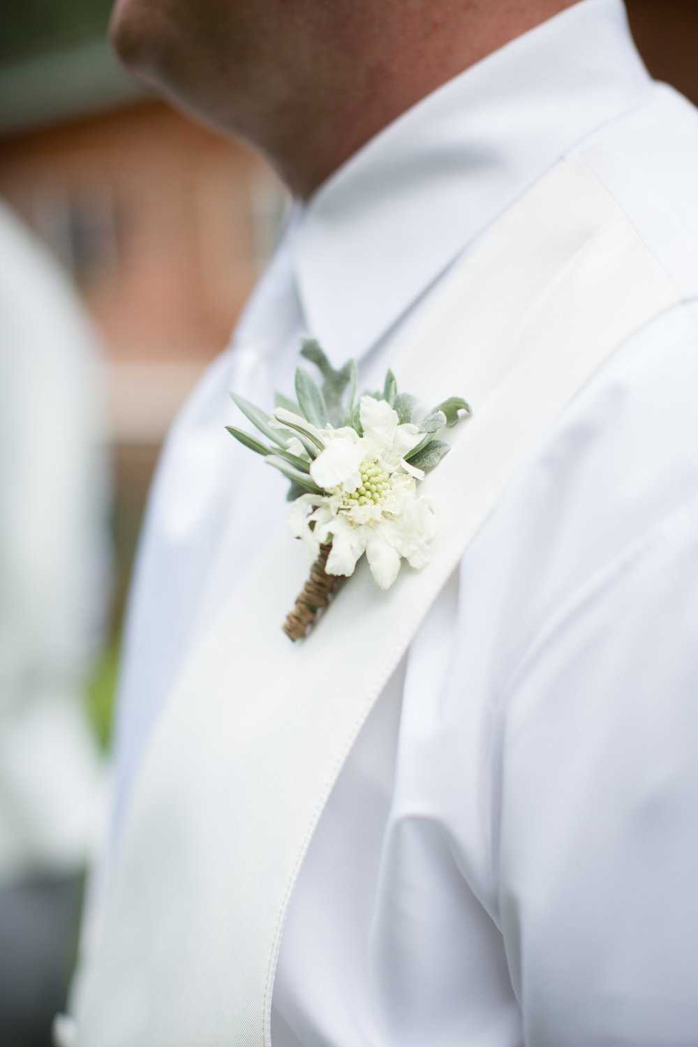 Lace and Lilies, Succulent Boutonniere