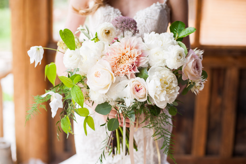 Lace and Lilies, Piney River Ranch, Bridal Bouquet