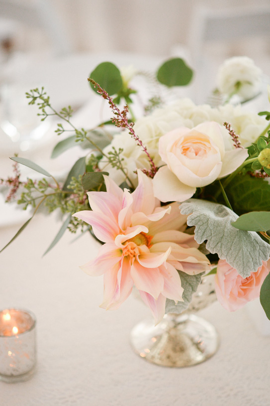 Flowers by Lace and Lilies, Colorado Wedding, Blush Wedding, Gold Wedding, Peach Wedding, Centerpiece, Dahlia Centerpiece