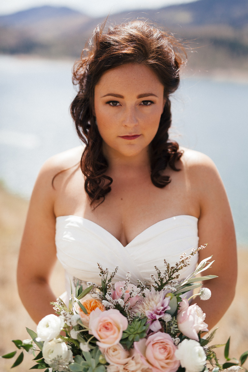 Bridal Bouquet by Lace and Lilies, Succulent Blush and Peach flowers