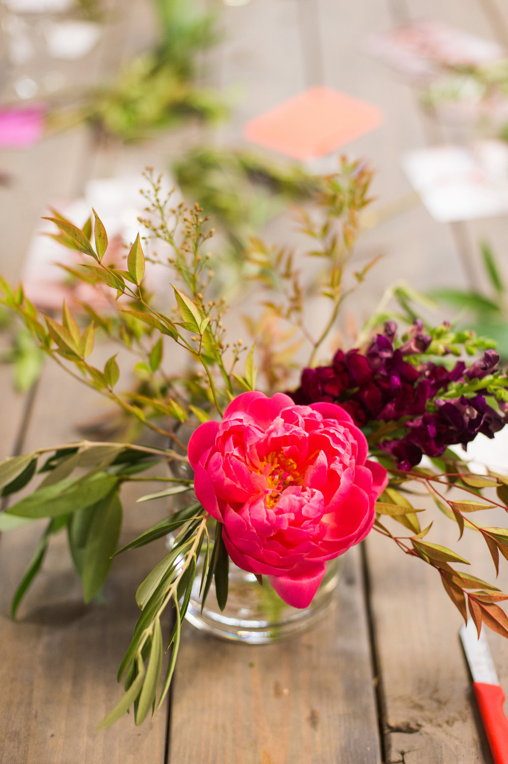 Lace and Lilies floral design workshop, Fort Collins Colorado fun, Coral Charm Peony