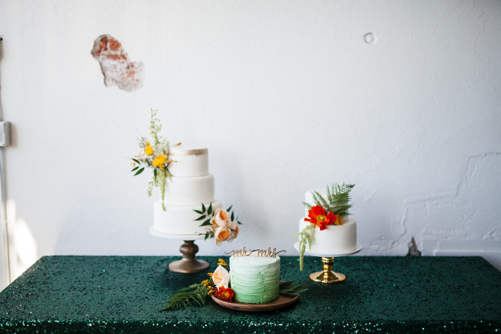 Flowers by Lace and Lilies, Cake Flowers, Spring Wedding, Green Ombre Cake