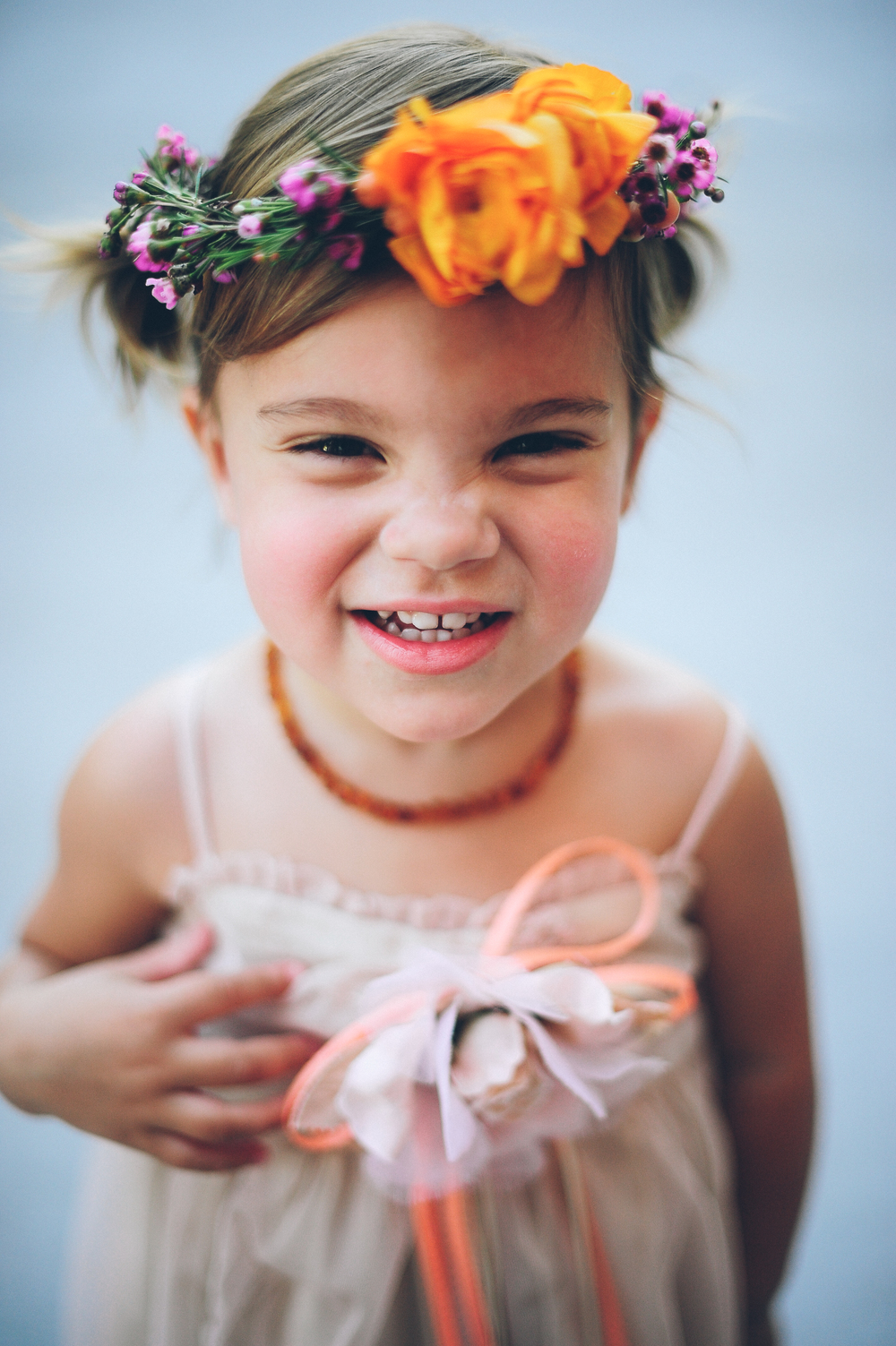 Flowers by Lace and Lilies, Flower Girl Crown, Flower Halo, Brewery Wedding