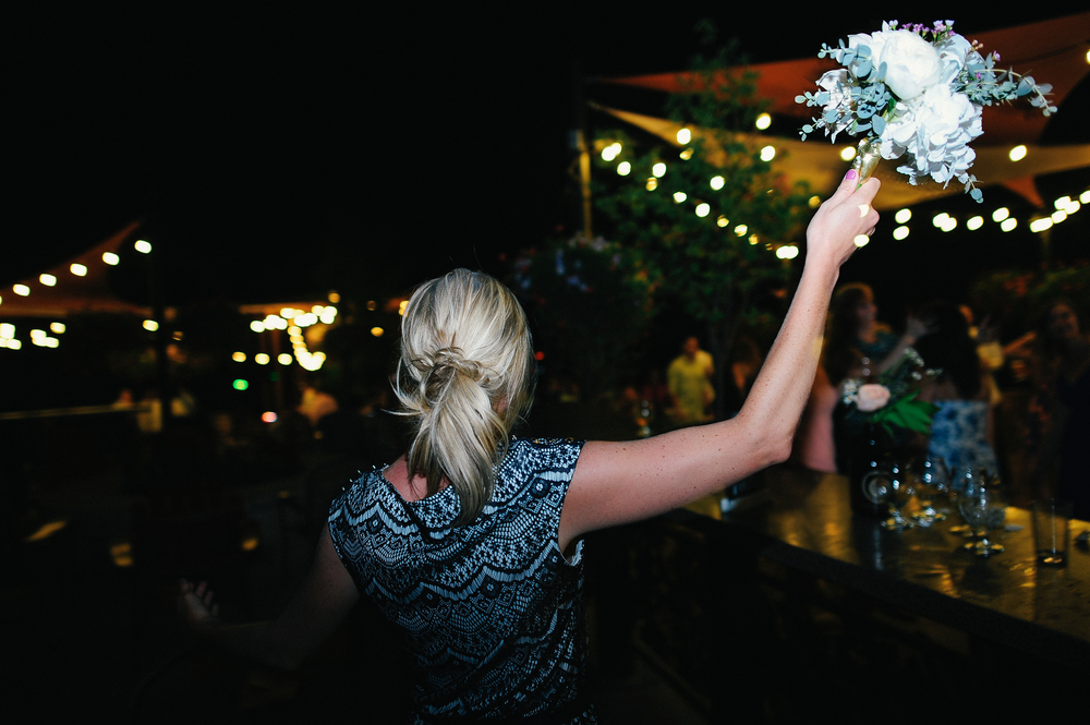Flowers by Lace and Lilies, Odell Brewery Wedding, Bouquet Toss, Wedding Details