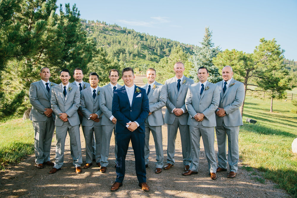 Flowers by Lace and Lilies - colorful, vibrant, summer wedding, colorado, groom, groomsmen, boutonniere, spruce mountain ranch