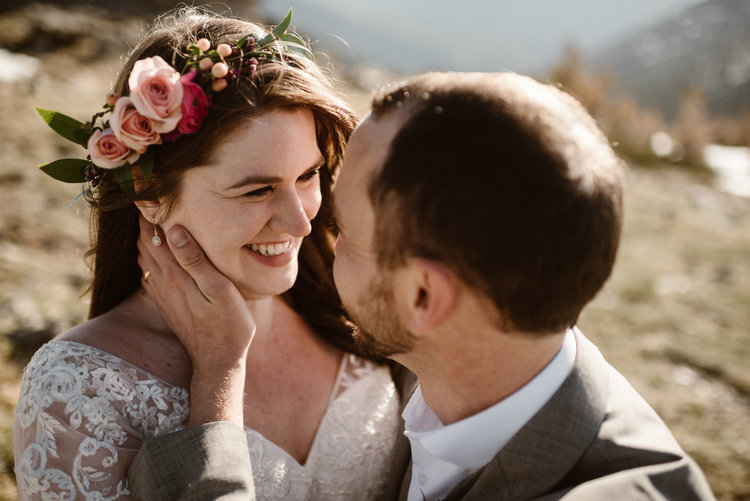 9f24eb0e6989a Flowers by Lace and Lilies, flower crown, colorado elopement, hair flowers,  spray